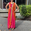 Thumbnail: Pari series hot pink and orange dress comes with back huge tussals