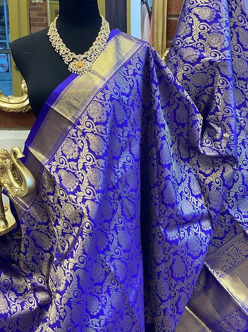 Pure kanjivaram with full jaal weaving
