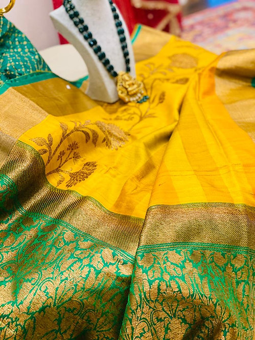 Pure Katan Silk Banarasi Saari