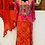 Thumbnail: Pure bandhani gorgette suit with gotta patti work with sharara