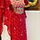 Thumbnail: Pure gajji silk suit with gotta patti work on neckline comes with sharara
