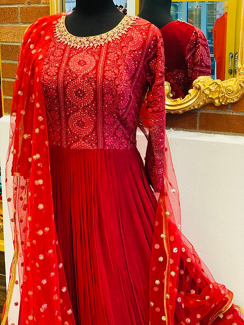 This Super Stylish Georgette Fabric Is Exclusively Crafted With hand  Embroidery