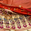 Thumbnail: Red meenakari border and pallu with all over buttas in saari