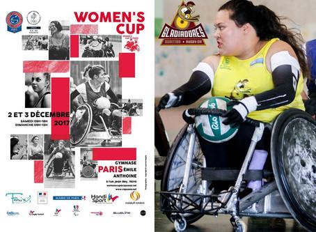 Tainá Santos, atleta dos Gladiadores Curitiba Quad Rugby, participa do  Woman's Cup 2017 em Pari