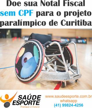 Nota Fiscal SEM CPF - Incentive o esporte paralímpico da nossa cidade