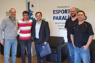 Visita ao Comitê Paralímpico Brasileiro (CPB) e ao Centro de Treinamento em SP