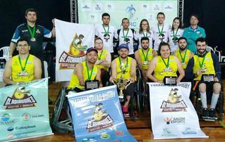 No pódio: Gladiadores conquistam bronze no X Campeonato Brasileiro de Rugby em Cadeira