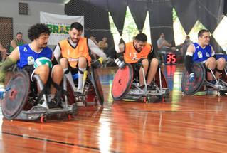Equipe de rugby em cadeira de rodas se prepara para primeira competição oficial do ano