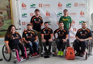 Atletas de rugby em cadeira de rodas recebem kits da Bolsa Top 2020 e regulamentação da Lei Estadual