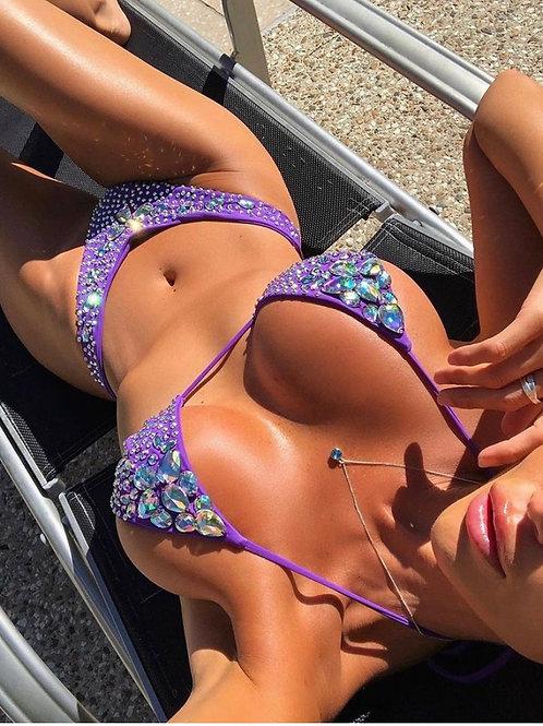 luxury Canadian womens swimwear resortwear luxe bikinis crystal sequins monokini ottilia and sugar