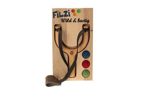 Display (Filzi - Wild & lustig) + 3 Filzkugeln + 1 Filzkugelschleuder