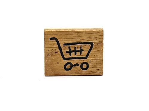 Magnet Mini: Einkaufswagen