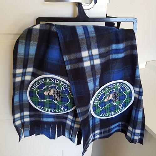 Lightweight Tartan Felt HPA logo scarf