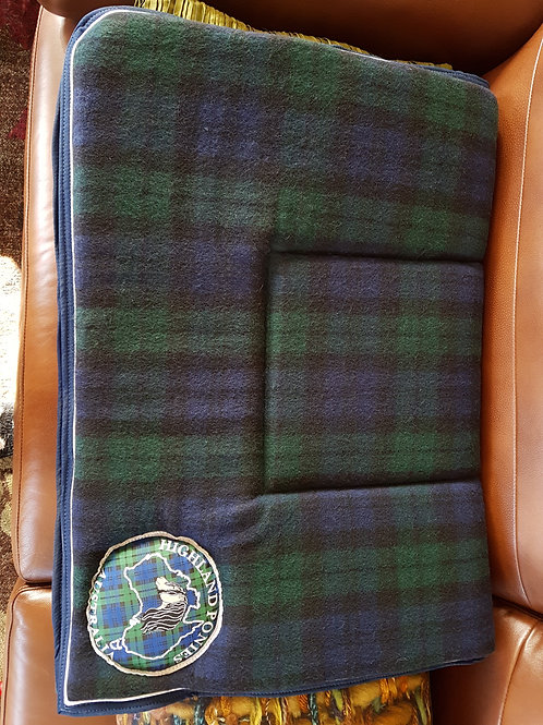 HPA woollen blackwatch tartan saddle blanket