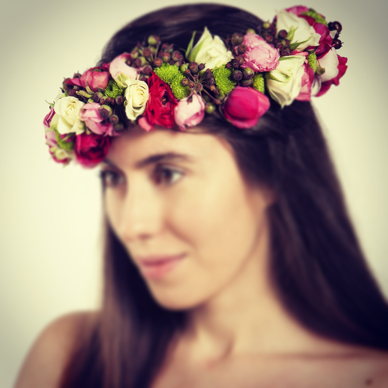 Floral Head Wreath