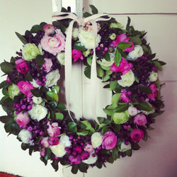 Floral Wreath for a Baby Girl