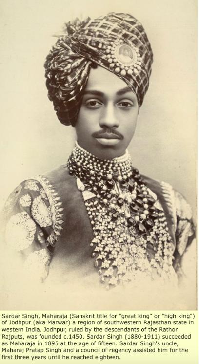 Sardar Singh Maharaja (King) of Jodhpur