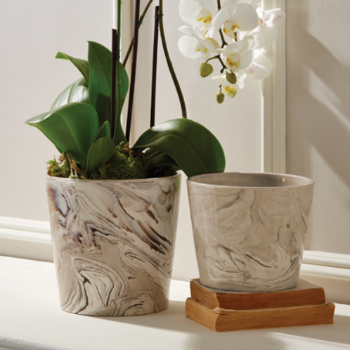 MARBLE INSPIRED POTS