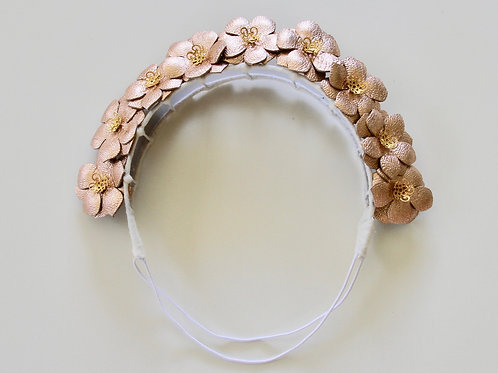 Flower girl crown - rose gold