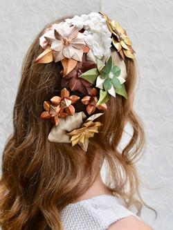 Custom made bridal wedding hairpiece