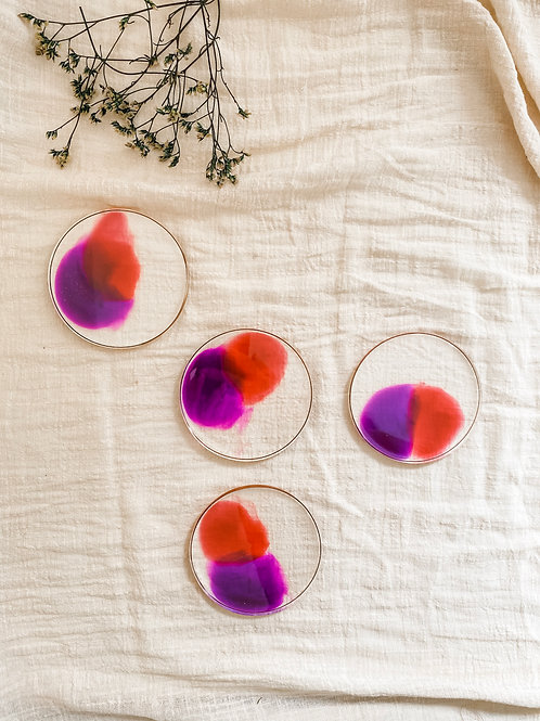 Resin Coaster Set of 4 #16