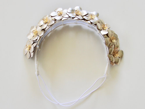 Flower girl crown - gold