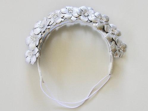 Flower girl crown - silver