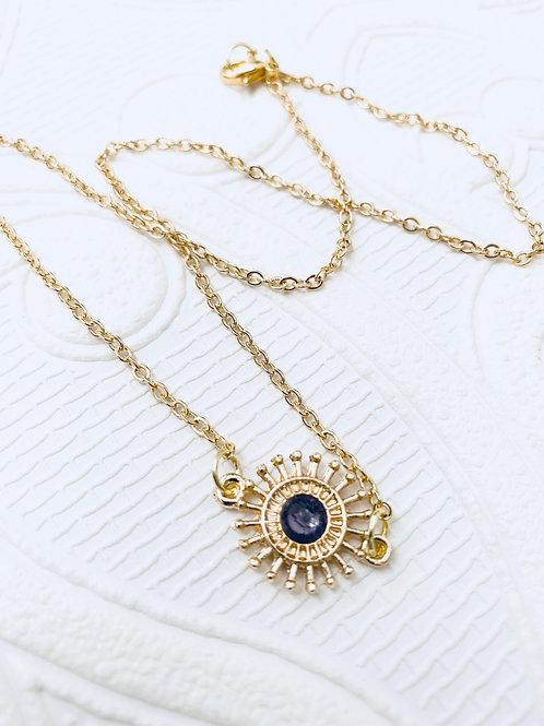 Gemstone Necklace | Purple