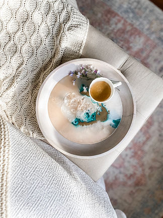 Handmade resin decorative tray
