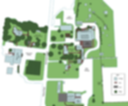 Site map, Country Barn Weddings map