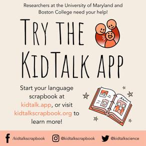 KidTalk: Language Scrapbooking for Science