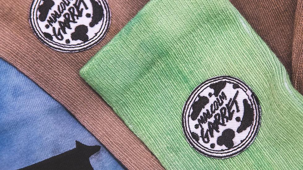 Custom Color Logo Crew Socks
