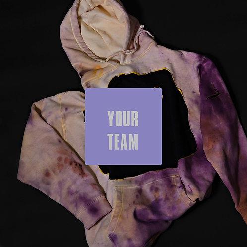 Ripped Distressed Custom Tye Dye/Bleached Unisex Hoodie