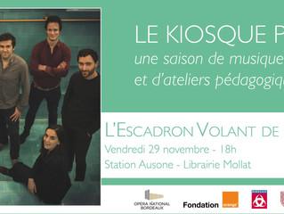 Le vendredi 29 novembre à 18h, regardez en direct notre concert Kapsberger à la Station Ausone de la