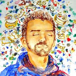 """Self-portrait Watercolour. 2011"""