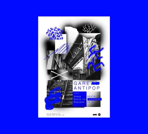 Gare Antipop Poster