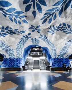 """""""Stockholm's underground art. Weird, no?"""""""