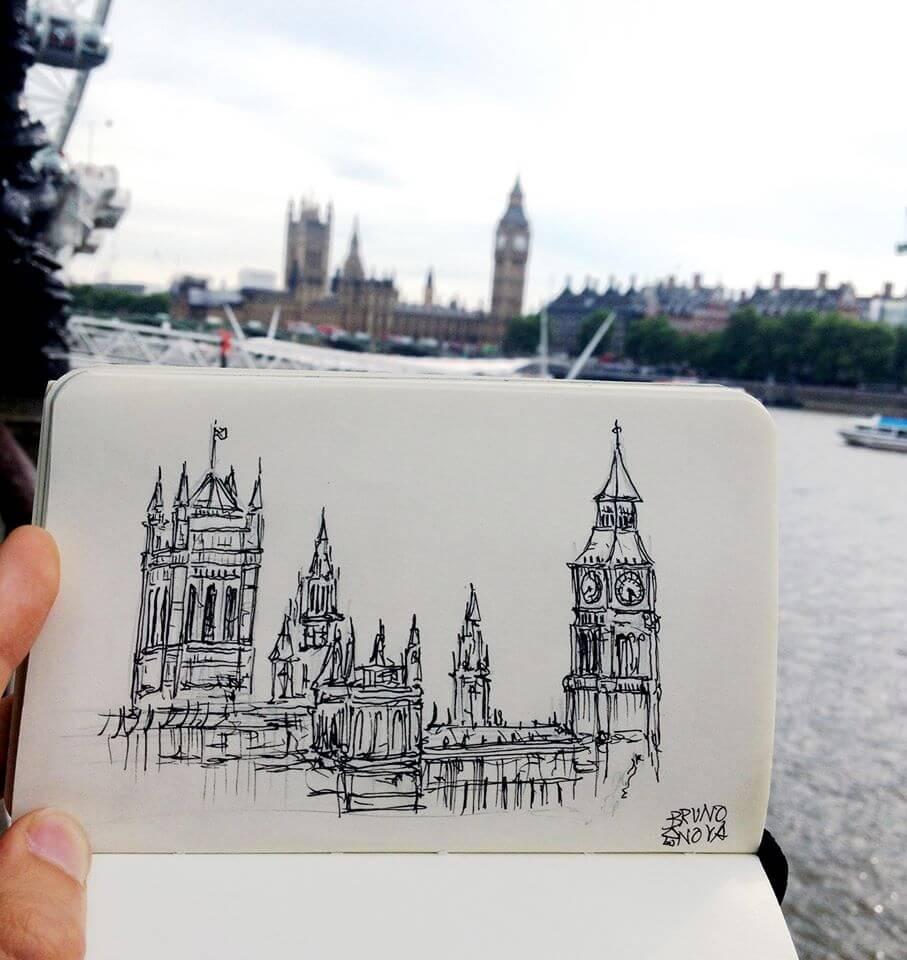 Desenho do Big Ben