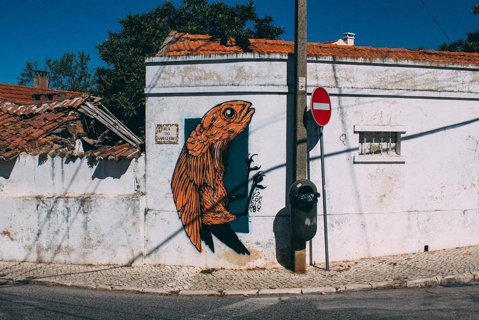 Parede no MAU, Quinta do Anjo, foto por Tiago Duraes