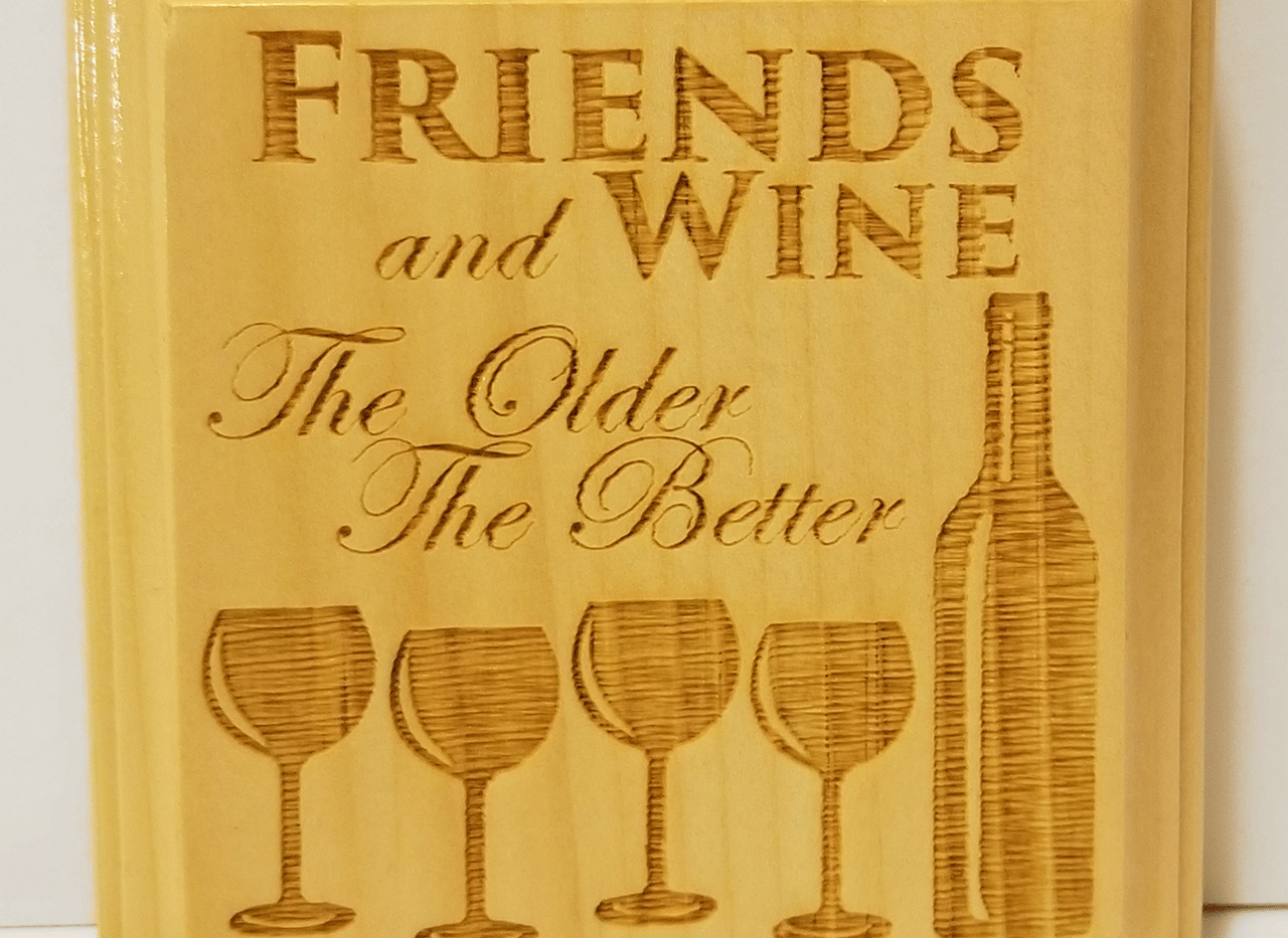 Friends and Wine Coaster Set