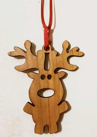Cute Reindeer Ornament-Cherry