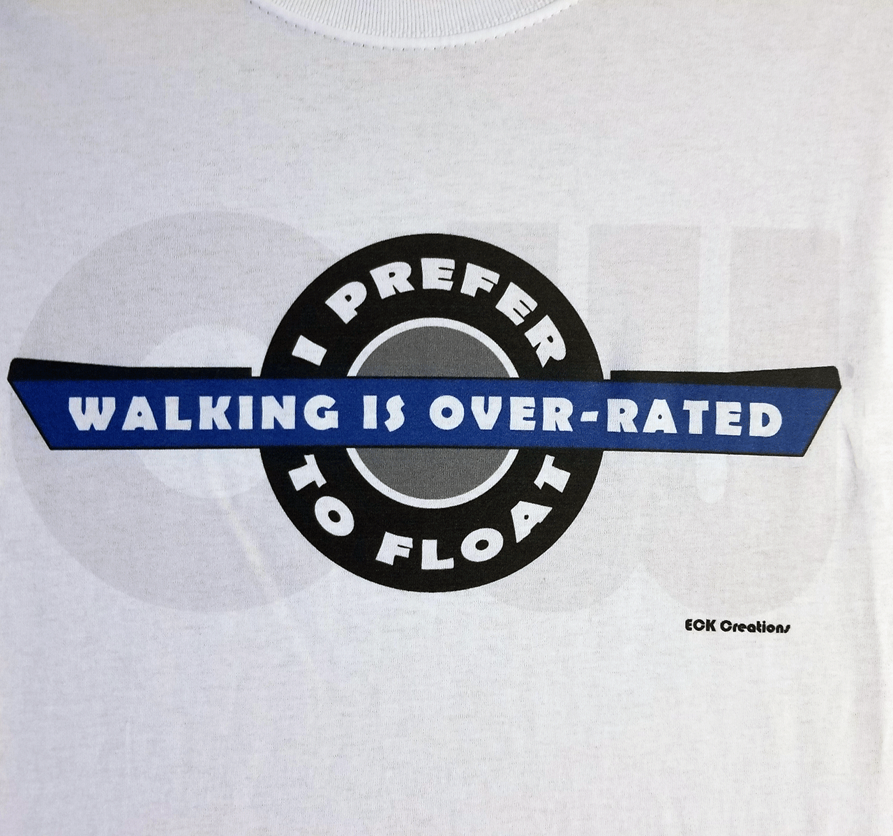 Close up of White T-shirt logo