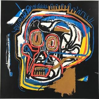 Jean - Michel Basquiat  (1960 - 1988) UntitledHead 1982 - 2001 (15/H.C. 15) Screenprint in colors 39.87 x 39.87 SOLD