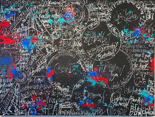 """Brendan Murphy """"Answers"""", 2021 Oil, acrylic and gouache on canvas 72 x 96 in"""