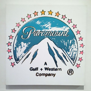 Andy Warhol  (1928 - 1987) Paramount Pictures 1985 Acrylic and silkscreen enamel painting on canvas 22 x 22 in SOLD