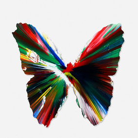 Damien Hirst (b. 1965) Butterfly Spin Painting, 2009 Acrylic on Paper 19.75 x 26.50 in Contact For Price