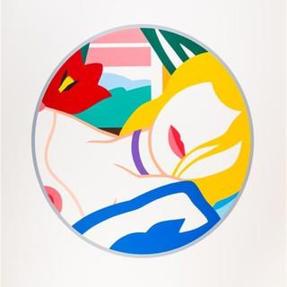 Tom Wesselmann  (1931 - 2004) Blonde Vivienne 1988-1989 (HC 2/12) Screenprint in colors 56 x 57 in SOLD