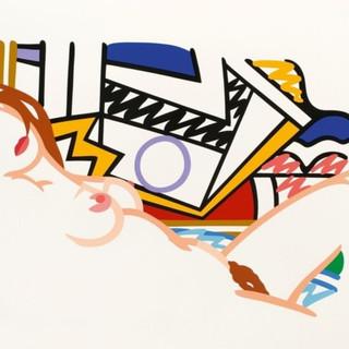 Tom Wesselmann (1931 - 2004) Monica Nude with Lichtenstein 2002(60/15) screenprint in colors on museum board 36 x 49.50 in SOLD