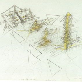 Roberto Matta (1911 - 2002) Mind Beaters, 1957 Pencil and crayon on paper 19.75 x 25.60 in Contact For Price