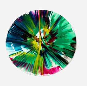 Damien Hirst (b. 1965) Circle Spin Painting, 2009 Acrylic on Paper 20.50 x 20.50 in Contact For Price